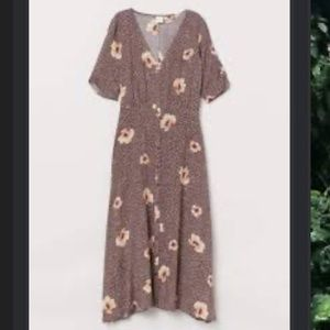 H&M midi floral dress